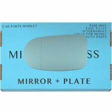 Left blue Wide Angle Wing mirror glass for Alfa Romeo GTV Spider 95-05 +plate
