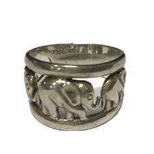 STERLING SILVER 925 THIALAND ELEPHANT ANIMAL RING SIZE 7.5