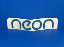 GENUINE NOS OEM - DODGE NEON Blue Grn Logo Emblem Badge Decal SRT-4 Car Original