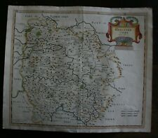 R Morden County Map of Herefordshire hand coloured published 1722