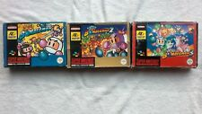 SUPER BOMBERMAN 1,2 + 3 Nintendo SNES RARE BOXED COMPLETE GAMES RETRO PAL MANUAL