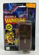 1980's Become A Vampire Glow In The Dark Teeth Coffin Halloween Costume MOC