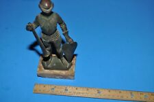 Knight Figure on Marble Base From Italy