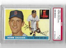 1955 Topps #176 Norm Zauchin Boston Red Sox Psa NM 7