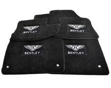 Floor Mats For Bentley Continental GT Premium Black Carpets Set With Emblem LHD