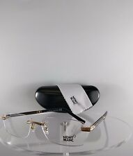 New Authentic MONT Blanc MB 432 006 Eyeglasses Gold/Black MB0432 Frame