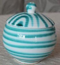 Gmundner Keramik Zucker-Marmelade-Honigdose, grün geflammt, gebraucht