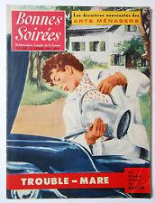 ► BONNES SOIREES N°1725 du 27 Février 1955 - MICHELE MORGAN -MODE CHAPEAUX 1955