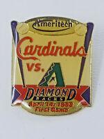 Vintage April 14 1998 Arizona Diamond Backs St. Louis Cardinals First Game Pin