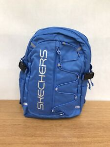 ☘️ Skechers Santa Monica Double Section Backpack Travel Bag W Laptop iPad Pocket