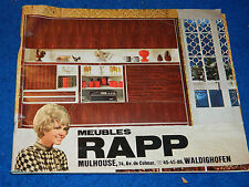 MEUBLES RAPP MULHOUSE publicité ancien MOBILIER VINTAGE canapé LIT salon LIVING