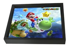 MARIO-GALAXY 8x10 3D SHADOWBOX WALL DECOR ART NINTENDO VIDEO GAME GAMER LUIGI!!!