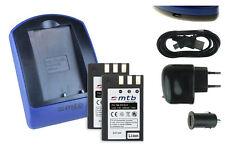 2 Akkus + USB-Ladegerät EN-EL9 ENEL9 für Nikon D40, D40x, D60, D3000, D5000