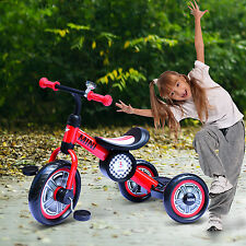 Aosom Kids Ride On Tricycle Bike Trike Strength Balance Training Learning Red