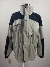 Columbia Titanium Mens XL Outer Shell Jacket Omni Tech Blk/Khaki Zip Up