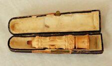 Antique Echt Meerschaum Garantirt Pipe Cigarette Handmade Holder in Case