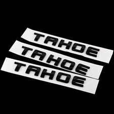 3Pcs/set Gloss Black TAHOE Nameplate EMBLEM Letter For 2007-2016 Chevrolet USA