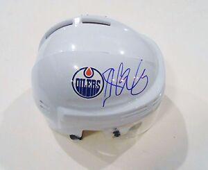 Nail Yakupov Signed Edmonton Oilers Mini Hockey Helmet w/COA
