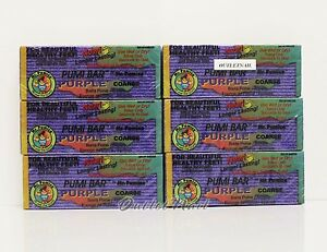 LOT 6 pc Mr. Pumice PUMI BAR Stone Purple Coarse Anti Bacterial >>SHIP 24H