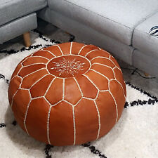 Authentic MOROCCAN of POUF Leather Pouf Ottoman Big Promo of Pouffe footstool