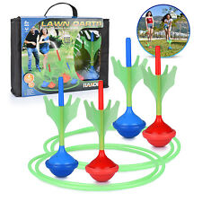 Lawn Darts Game Glow in The Dark, Outdoor Backyard Toy for Kids & Adults