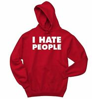 I Hate People Antisocial Funny Crewneck Hooded Sweatshirt Holiday Gift Hoodie