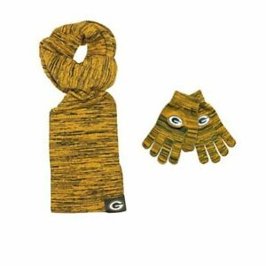 Green Bay Packers NFL Licensed Color Blend Scarf And Glove Set for Women
