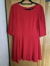 BNWT Red F&F Skater Style Size 12 Dress