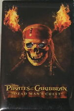 Disney Light-Up Button Pin Pirates of Caribbean Dead Man's Chest Skull & Torches