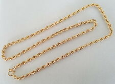 9CT GOLD ROPE STYLE  NECKLACE * 51CM LONG * 8.74grams *  Gorgeous Chain *
