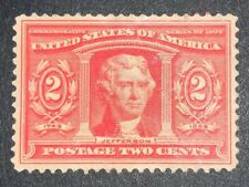 TRAVELSTAMPS: 1904 US Stamps Scott #324, Jefferson, mint unused ng, 2 cents