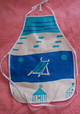New Children's water proof apron deck chair design, white piping, age 1-4