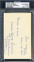 Hank Severeid Signed Psa/dna 3x5 Index Card Authentic Autograph