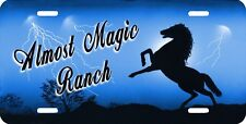 Blue Stallion Mustang Horses Auto License Plate Gifts Personalize Any Text Name