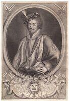 Portrait XVIIe Philippe-Emmanuel de Gondi  Comte de Joigny Marquis de Belle-Île