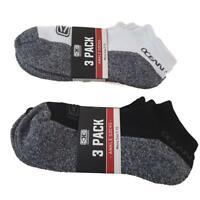 6 Pack Ankle Sock Bundle - 3 White & 3x Black - Surfing Band Ocean & Earth Socks