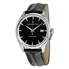 Hamilton Jazzmaster Black Dial Mens Leather Watch H32451731