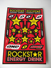New Rockstar Motocross Enduro Decals Sticker Cr Crf Xr Xlr Honda Ccm Ec Rm Yz Sx