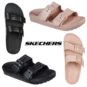 Skechers Womens Cali Gear Cali Breeze 2.0 Royal Texture Foam Slide Sandal Shoes