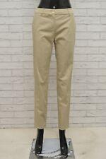 Pantalone MAX MARA Donna Taglia 36 Jeans Pants Woman Cotone Gamba Dritta Beige