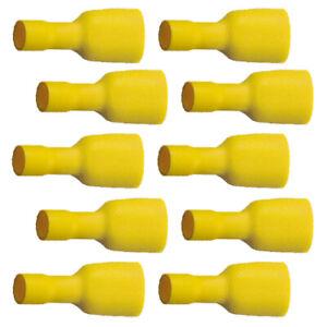 10 Flachsteckhülsen vollisoliert 9,5x1,1 gelb 4,0 bis 6,0 mm² (0,39 EUR/Stück)