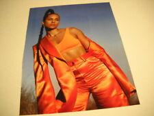 Alicia Keys in bright orange outfit Original 2019 Promo Poster Ad mint condition