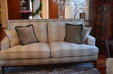 """GORGEOUS 84"""" Harden sofa. Neutral .... goes with everything.Living Room/Wood &"""