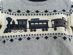 Gymboree Fairisle Train Jumper 6-12 Months EUC