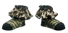 Ganz Baby Girl 0-12 month Army Camouflage Style Camo Ruffle Socks ER34146