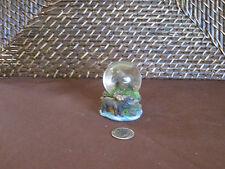 Decorative miniature snow dome moose figurine design