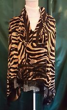 FAUX FUR DUO, shawl and purse, safari motif, tiger stripes