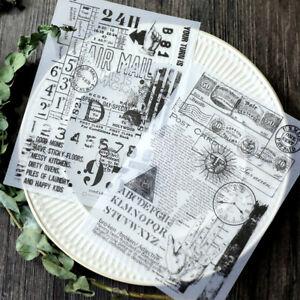 8Pcs Self Adhesive Vellum Paper Die Cuts for Scrapbooking Planner Paper Crafts