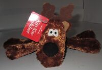 NWT Hallmark Kiss Kiss Reindeer Plush SINGLE Rodney Magnet Mouth Scarf Toy Doll