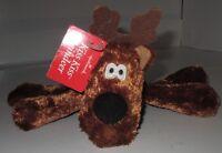 NWT Hallmark Kiss Kiss Reindeer Plush SINGLE Rodney Magnet Mouth Scarf Toy Doll